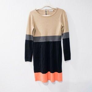 Eliza J Color block Sweater Dress Medium